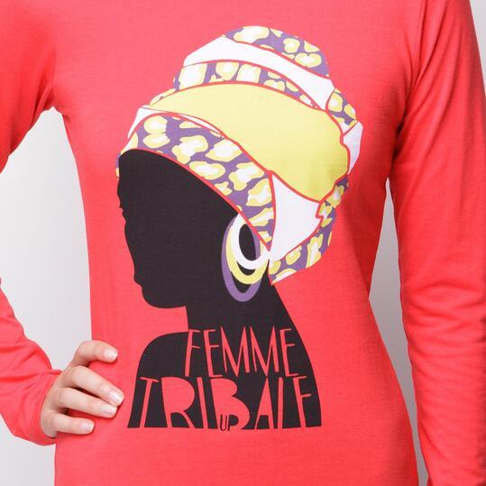 Camiseta UP Coral Mujer