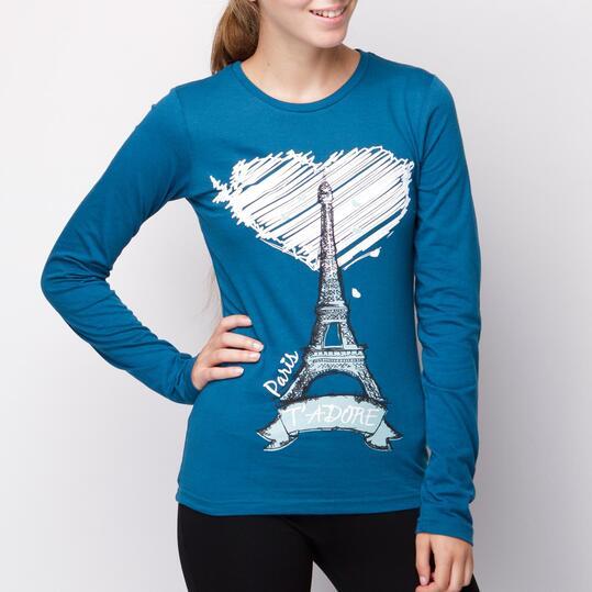 Camiseta UP Azul Mujer