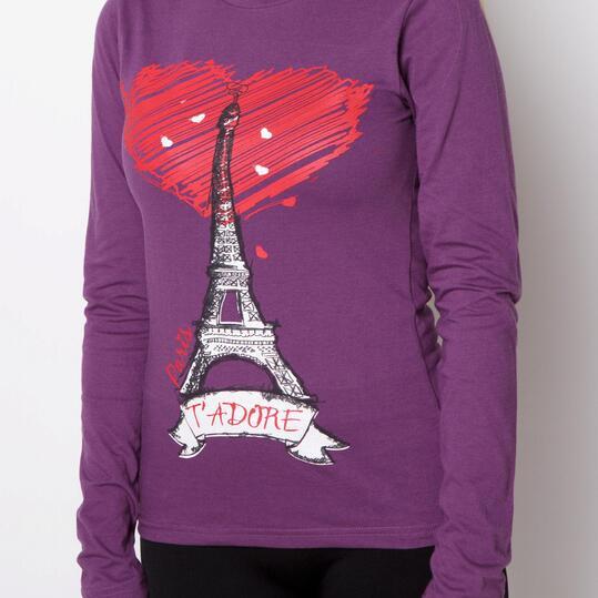 Camiseta UP Morado Mujer