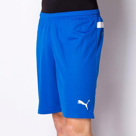 PUMA Pantalón Fútbol Corto Azul Hombre