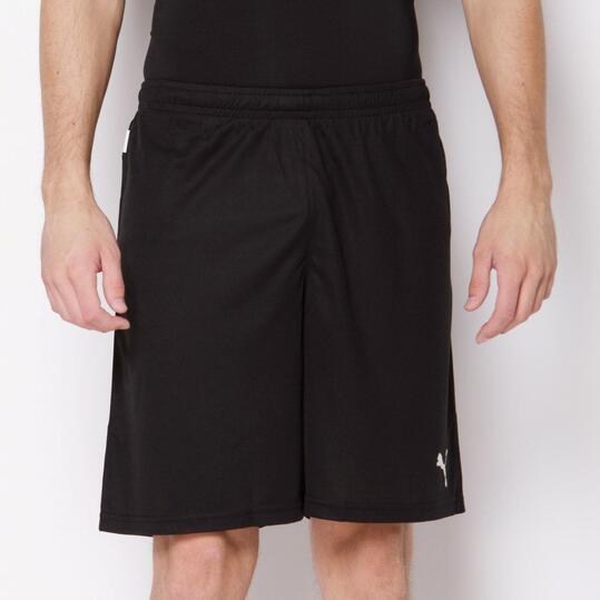 PUMA Pantalón Fútbol Corto Negro Hombre