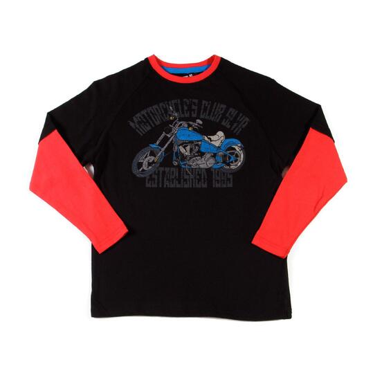 Camiseta SILVER Negro Niño (10-16)