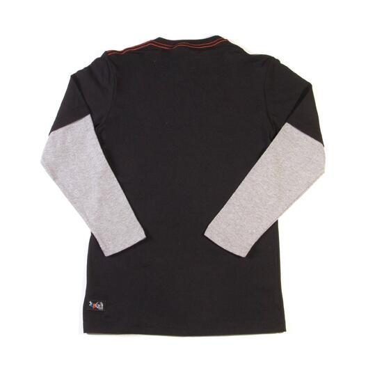 SILVER Camiseta Manga Larga Negro Niño (10-16)