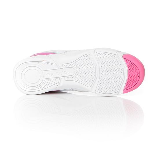 PROTON Zapatillas Tenis Blanco Fucsia Mujer