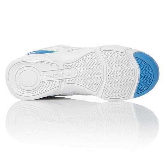 PROTON Zapatillas Tenis Niño Blanco Azul (36-39)
