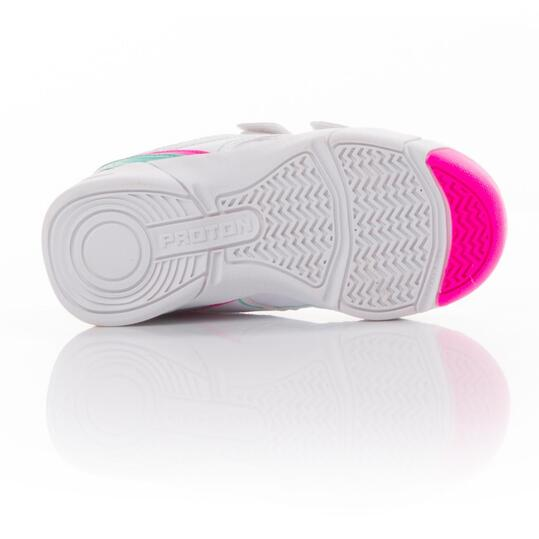 PROTON Zapatillas Tenis Blanco Rosa Niña (22-27)