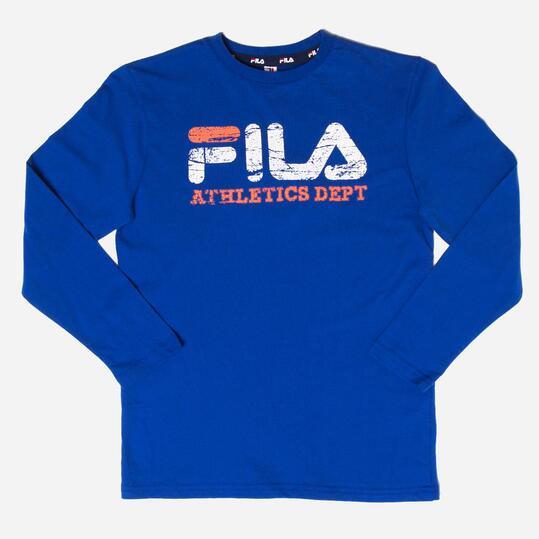 FILA BASIC Camiseta Manga Larga Azul Niño (10-16)