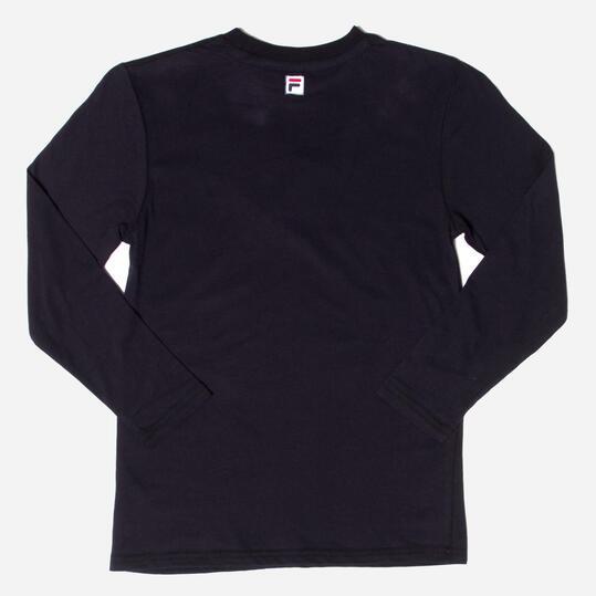 FILA BASIC Camiseta Manga Larga Negro Niño  (10-16)