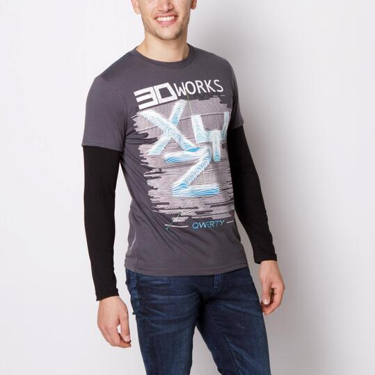 Camiseta SILVER Antracita Hombre