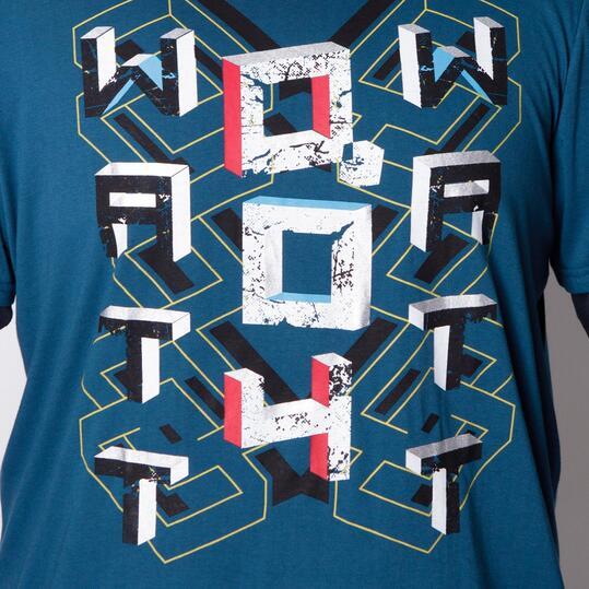 Camiseta Talla Grande SILVER Azul Hombre