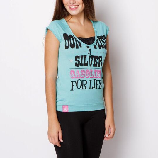 Camiseta SILVER Verde Mujer