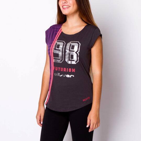 Camiseta SILVER Antracita Mujer