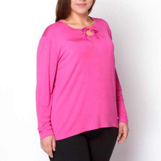 Camiseta Talla Grande SILVER Fucsia Oscuro Mujer