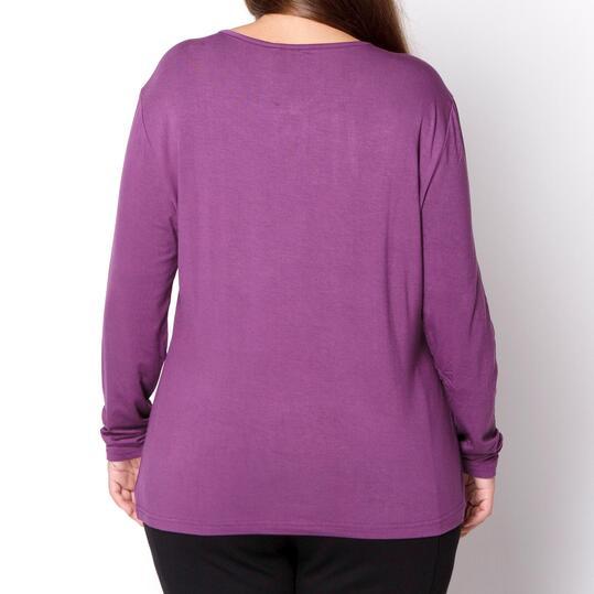 Camiseta Talla Grande SILVER Berenjena Mujer