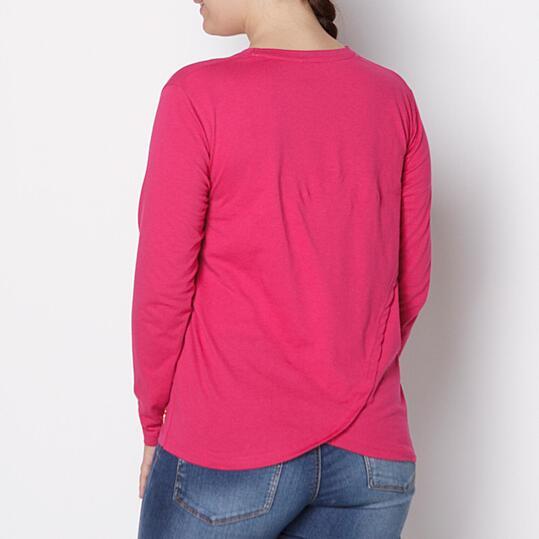 Camiseta Talla Grande SILVER Fucsia Mujer