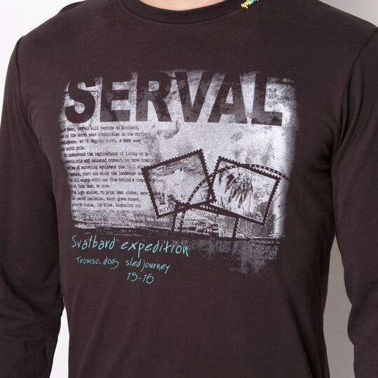 SERVAL Camiseta Antracita Hombre