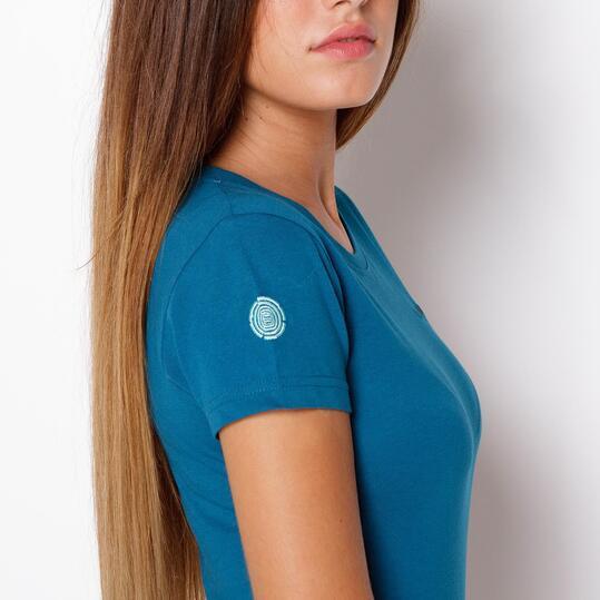 Camiseta Montaña BoRIKEN Azul  Mujer