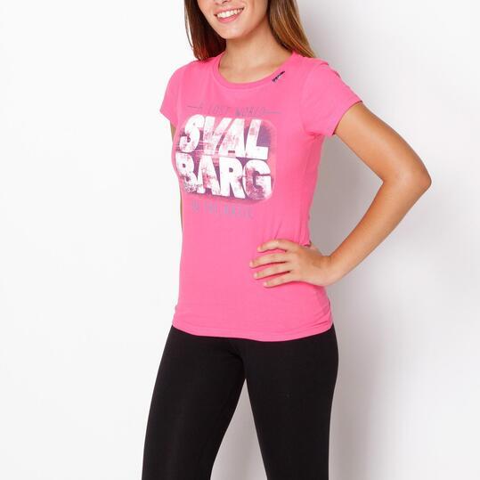 SERVAL Camiseta Fucsia Mujer