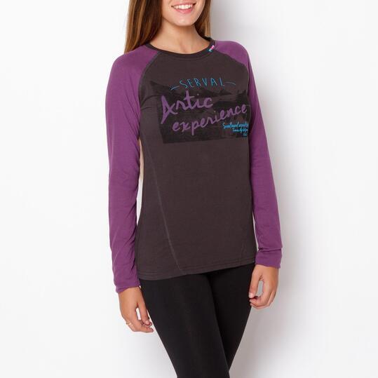 SERVAL Camiseta Antracita Mujer