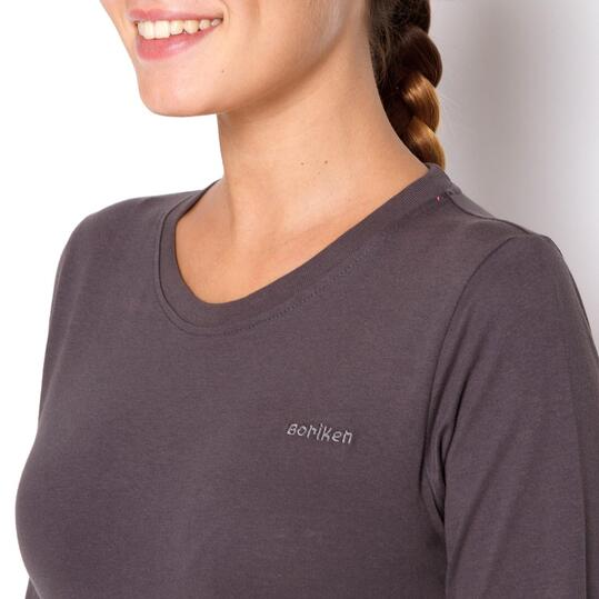 BORIKEN Camiseta Montaña Gris Mujer