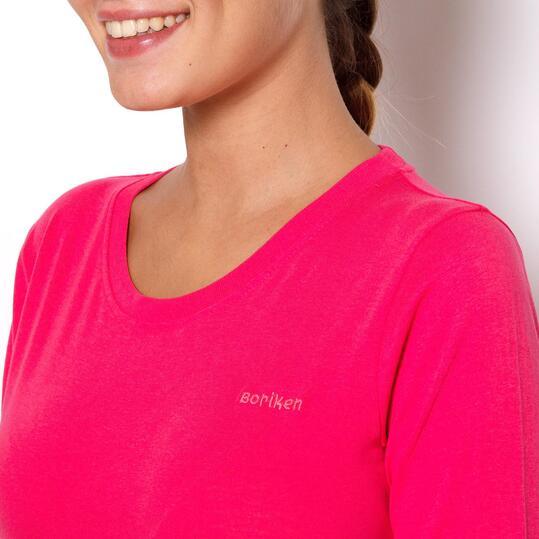 BORIKEN Camiseta Montaña Fucsia Mujer