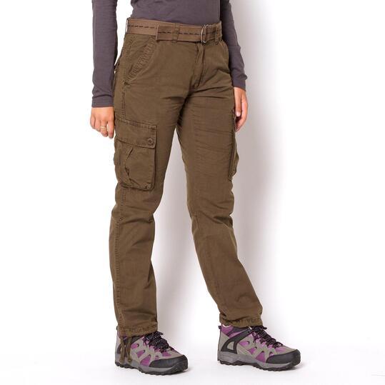 SERVAL Pantalones Marrón Mujer