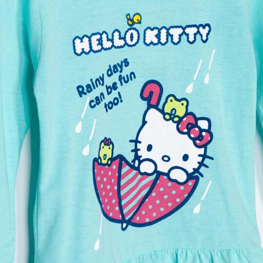 Camiseta Manga Larga HELLO KITTY Azul Niña (2-8)