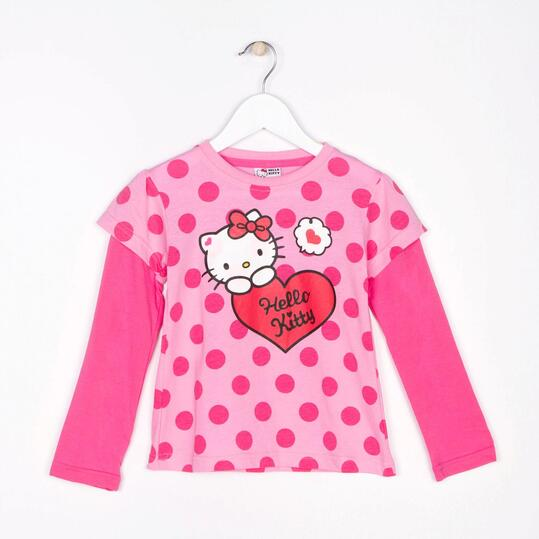 Camiseta Manga Larga HELLO KITTY Lunares Niña (2-8)