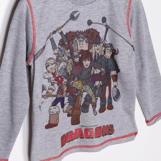 Camiseta Manga Larga Estampada DRAGON Niño (2-8)