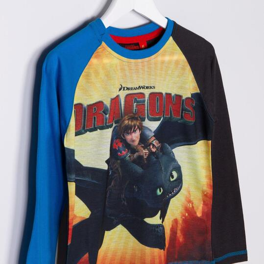 Camiseta Manga Larga DRAGON Gris Niño (2-8)