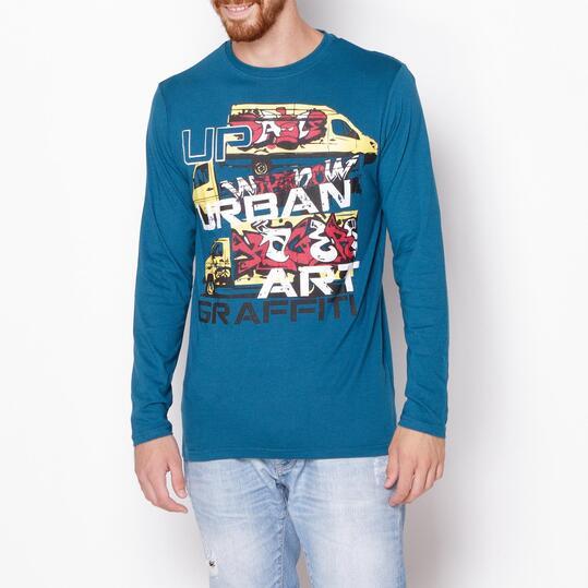 Camiseta UP Azul Hombre