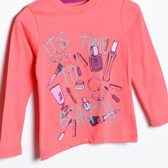 UP Camiseta Rosa Niña (2-8)