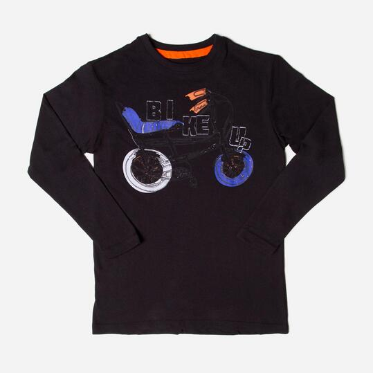 UP Camiseta Negro Niño (10-16)