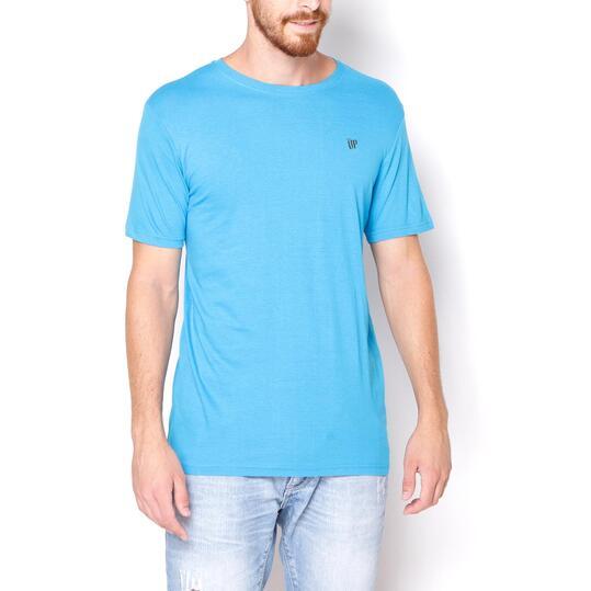 UP BASIC Camiseta Manga Corta Azul Hombre