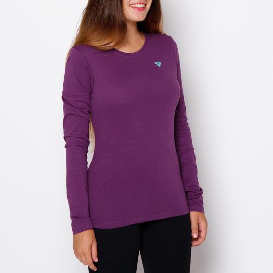 UP Camiseta Berenjena Mujer