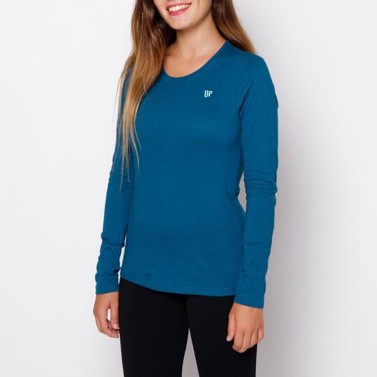 UP Camiseta Azul Carbón Mujer
