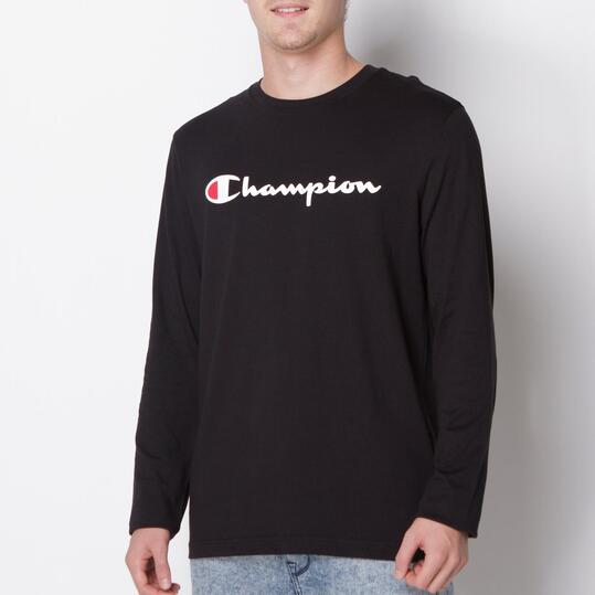 CHAMPION CONTEMPORARY Camiseta Manga Larga Negro Hombre