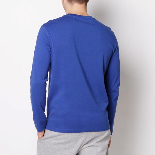 CHAMPION CONTEMPORARY Camiseta Manga Larga Azul Hombre