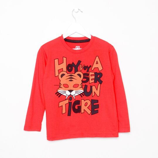 UP Camiseta Manga Larga Rojo Niño (2-8)