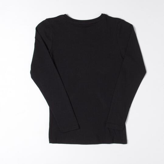 UP Camiseta Negro Niña (10-16)