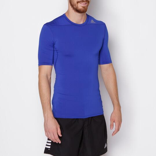 ADIDAS TECHFIT Camiseta Running Azul Hombre