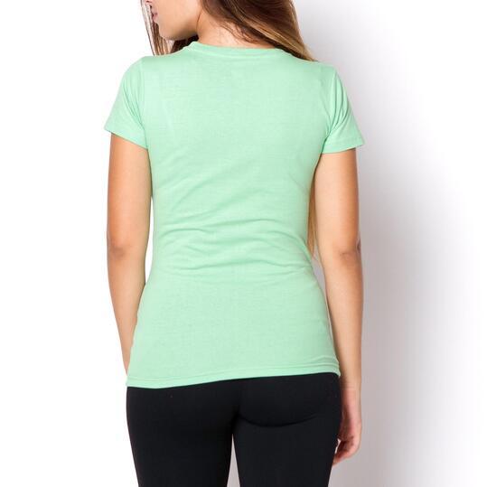 UP Camiseta Verde Azulado Mujer