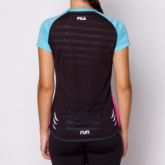 FILA Camiseta Running Turquesa Mujer
