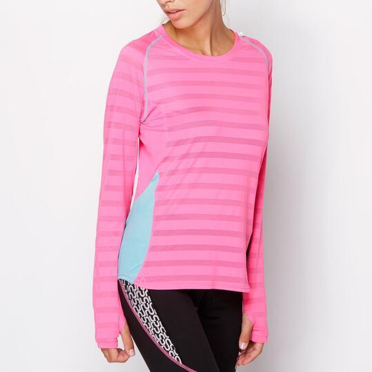 FILA Camiseta Running Rosa Mujer