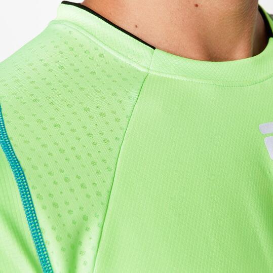 FILA Camiseta Running Verde Hombre