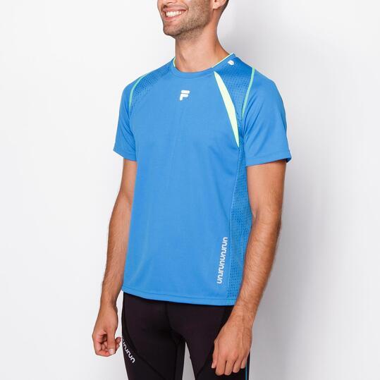 FILA Camiseta Running Azul Hombre