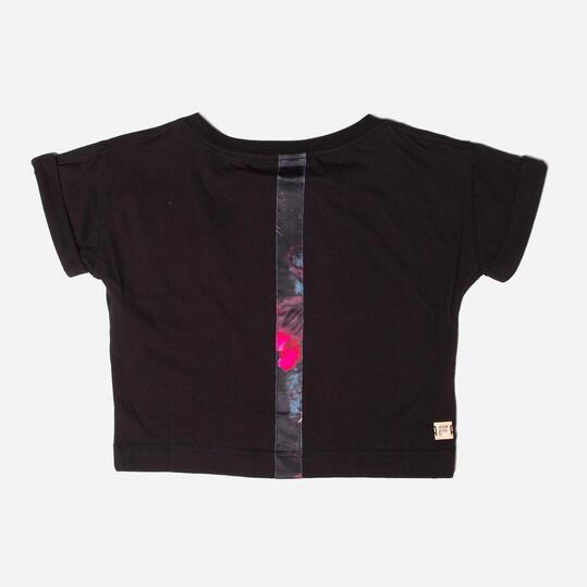 FILA Camiseta Manga Corta Negro Niña