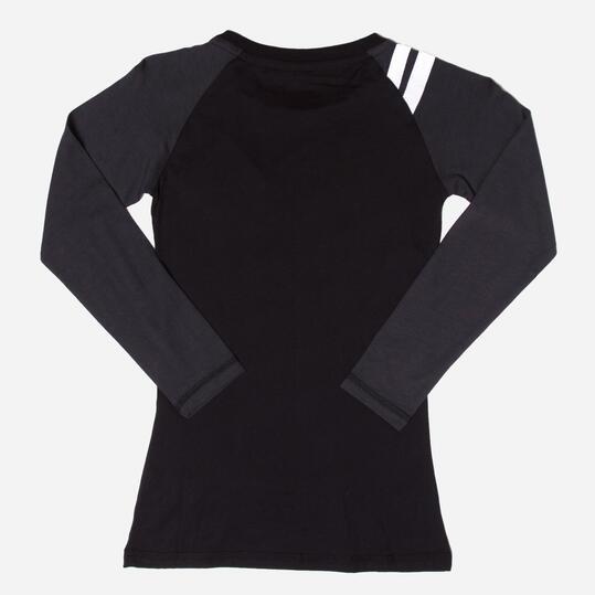 FILA Camiseta Manga Larga Negro Niña (10-16)