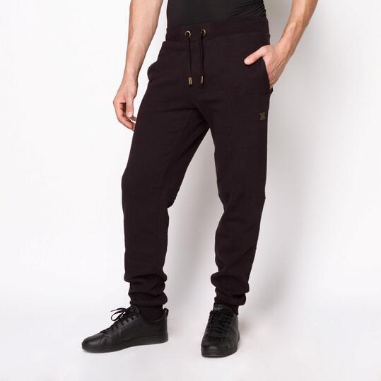 FILA Pantalón Chándal Felpa Negro Hombre