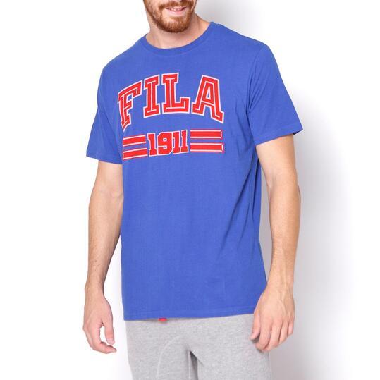 FILA BASIC Camiseta Manga Corta Hombre Azul